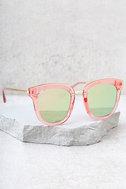 Revelery Pink Mirrored Sunglasses 2