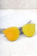 Super Powers Gold and Orange Mirrored Sunglasses 1