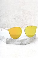Super Powers Gold and Orange Mirrored Sunglasses 2