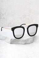Revelry Black and Silver Mirrored Sunglasses 2