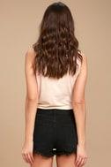 Amuse Society Easton Washed Black Distressed Denim Shorts 5