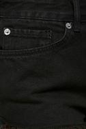 Amuse Society Easton Washed Black Distressed Denim Shorts 6