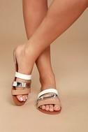 Amaryllis Toffee Brown Slide Sandals 2