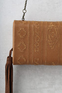 Cassidy Tan Embroidered Clutch 3
