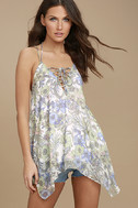 Magic Garden White Floral Print Lace-Up Top 2