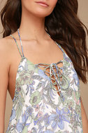 Magic Garden White Floral Print Lace-Up Top 4