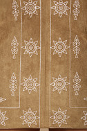 Ornamental Tan Embroidered Suede Mini Skirt 6