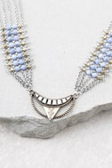 Desert Dreaming Layered Silver Choker Necklace 1