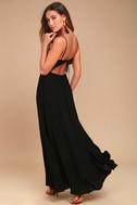 Ascension Island Black Embroidered Maxi Dress 3