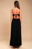 Ascension Island Black Embroidered Maxi Dress 4