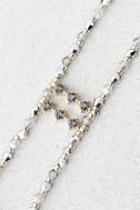 Oceana Gold and Grey Beaded Choker Necklace 3