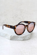 Solstice Sun Tortoise and Silver Mirrored Sunglasses 1