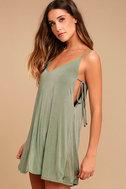 Back In Love Sage Green Swing Dress 2