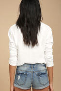Bounce Back Light Wash Distressed Denim Shorts 3