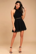 Reach Out My Hand Black Lace Skater Dress 2