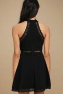Reach Out My Hand Black Lace Skater Dress 3