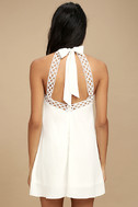 Any Sway, Shape, or Form White Lace Halter Dress 3