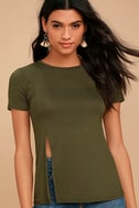 Sightseeing Olive Green Tee 1