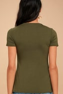 Sightseeing Olive Green Tee 2