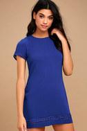 Perfect Time Royal Blue Shift Dress 1