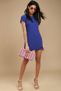 Perfect Time Royal Blue Shift Dress 2