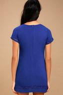 Perfect Time Royal Blue Shift Dress 3