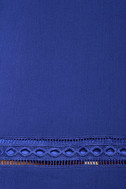 Perfect Time Royal Blue Shift Dress 4