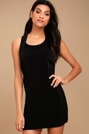 Streamlined Style Black Cutout Dress 2