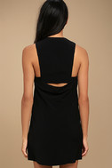 Streamlined Style Black Cutout Dress 3
