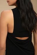 Streamlined Style Black Cutout Dress 4