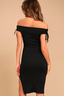Never Enough Black Off-the-Shoulder Bodycon Midi Dress 3