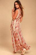 Mystical Moment Coral Pink Print Maxi Dress 2