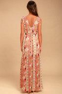 Mystical Moment Coral Pink Print Maxi Dress 3