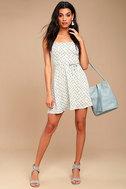 Sunny Hillside Ivory Floral Print Skater Dress 2