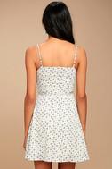 Sunny Hillside Ivory Floral Print Skater Dress 3