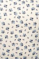 Sunny Hillside Ivory Floral Print Skater Dress 4