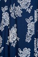 Heart of Marigold Navy Blue Floral Print Wrap Maxi Dress 4