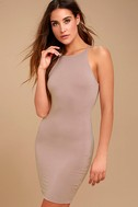 I Bet Taupe Bodycon Dress 1