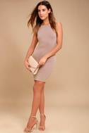 I Bet Taupe Bodycon Dress 2
