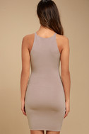 I Bet Taupe Bodycon Dress 3