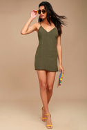 Ray of Light Olive Green Dress 2