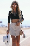Made with Moxie Beige Corduroy Mini Skirt 7