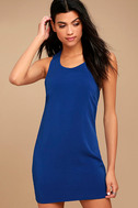Streamlined Style Royal Blue Cutout Dress 2