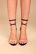 Ledah Black Suede Lace-Up Heels 2