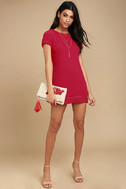 Perfect Time Red Shift Dress 2