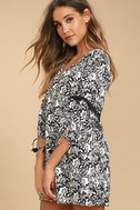 Amuse Society Costello Black Floral Print Shift Dress 2