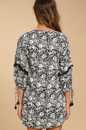 Amuse Society Costello Black Floral Print Shift Dress 3