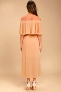 Somedays Lovin' Touch the Sun Nude Off-the-Shoulder Midi Dress 3