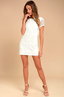 Love You For Eternity White Lace Shift Dress 2