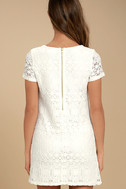 Love You For Eternity White Lace Shift Dress 3